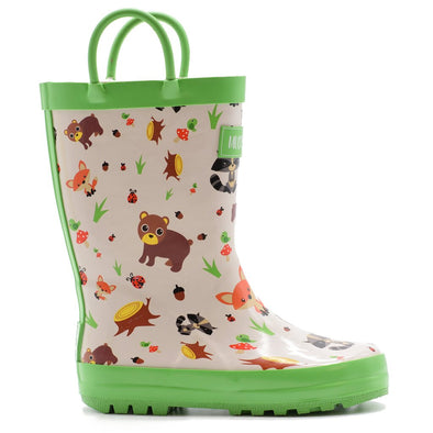 NEW rain boots woodland critters 12