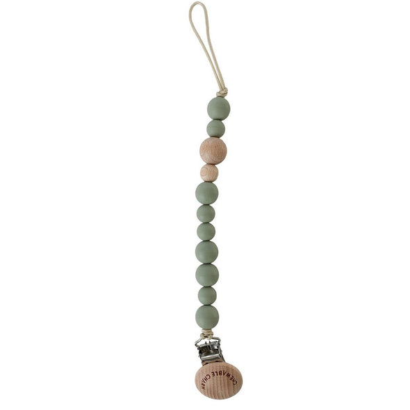 wood+succulent pacifier clip by chewable charms NEW in box