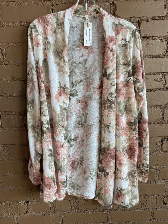 NEW ivory floral cardigan