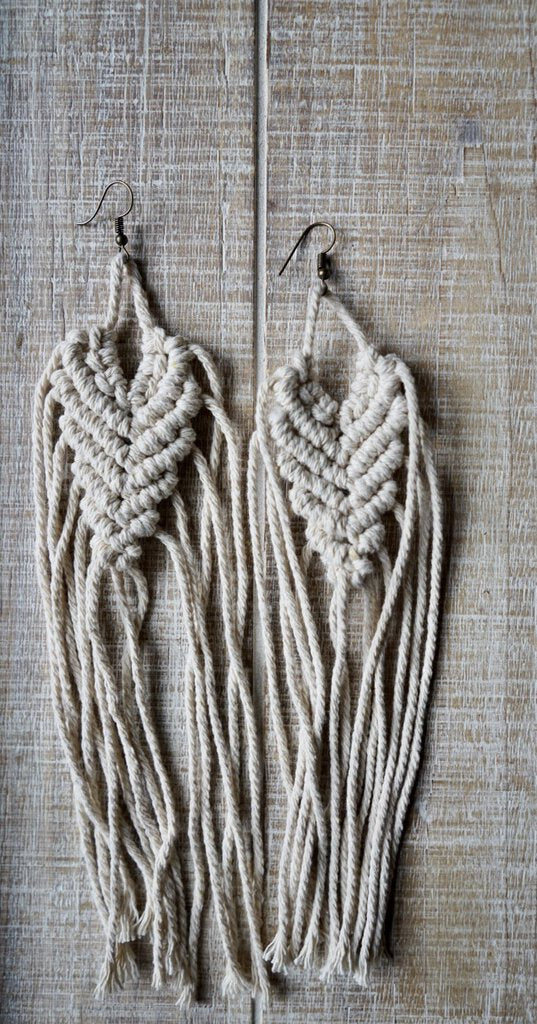 New macrame earrings