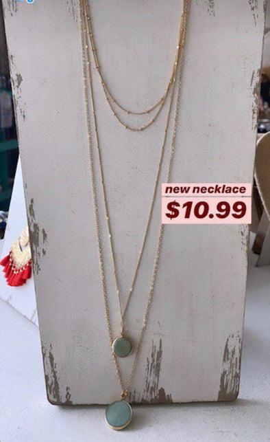 layered new necklace