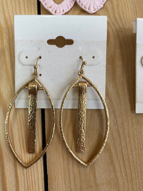 new earrings gold