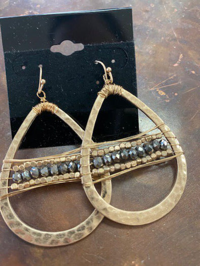 new earring gold/grey