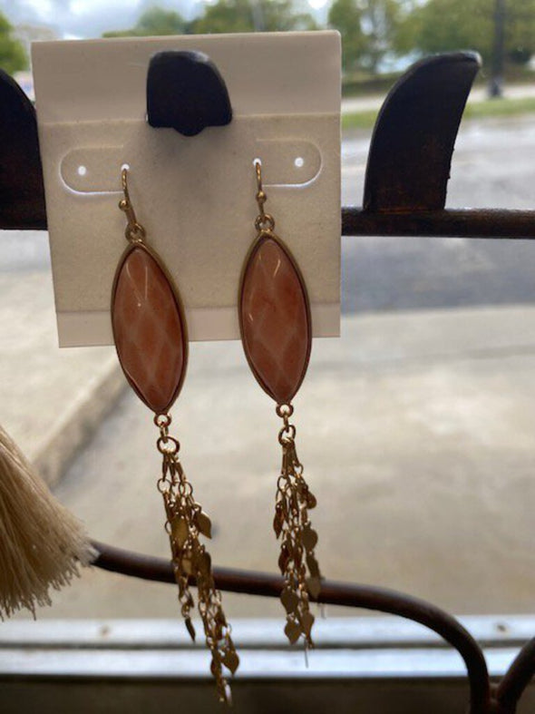 new earring pink/gold