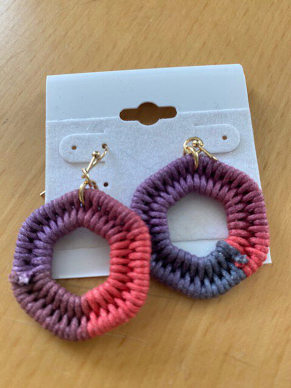 new pink/purple earring