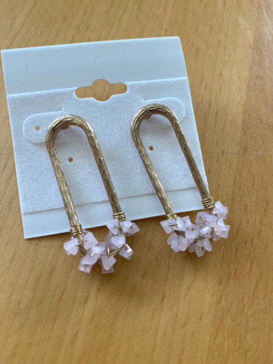 new pink/gold earrings