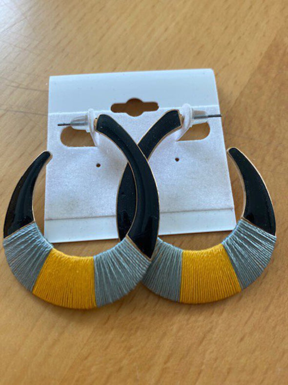 new earring gold/blue