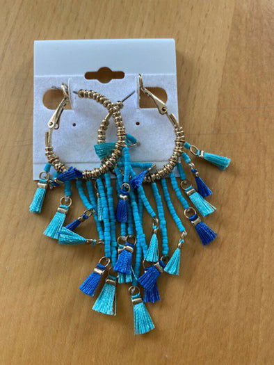 new earrings gold/blue