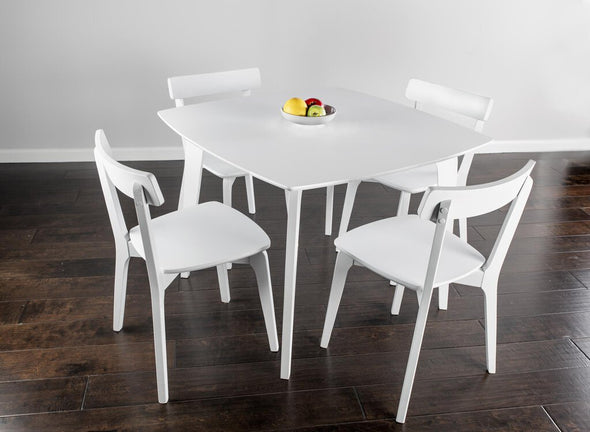 NEW Keely white table+4 chairs