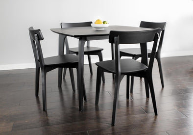 NEW Noreen black table+4 chairs