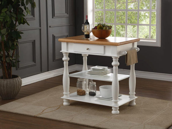 7113 white kitchen island NEW