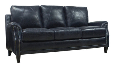 Anya 100% leather sofa NEW midnight blue