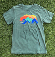 CALIFORNIA BEAR Tee - Pine Green
