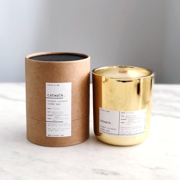 CATWALK | VIRGIN COCONUT CRÈME & WOODEN WICK CANDLE