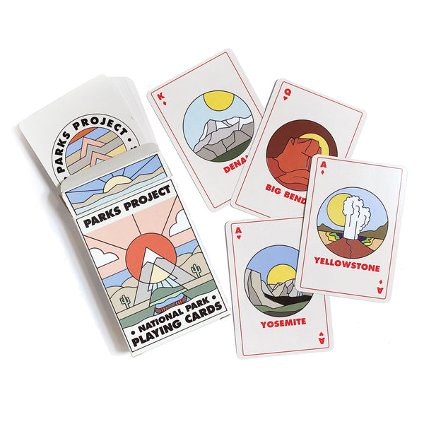 Minimalist National Park Playing Cards
