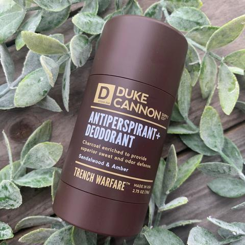 TRENCH WARFARE ANTIPERSPIRANT + DEODORANT (SANDALWOOD & AMBER)