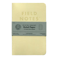 Field Notes Signature Series Notebook - Cream with Ruled Paper (Set of Two)
