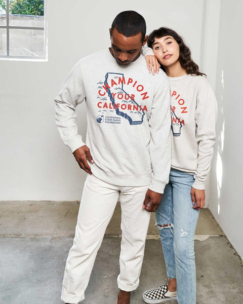 Champion Your California Crew Sweatshirt - Heather Oatmeal