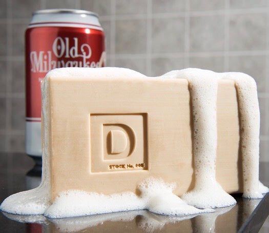 BIG ASS BRICK OF OLD MILWAUKEE BEER SOAP, JR.