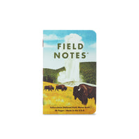 National Parks Memo Books - Series C (3-pack) - Rocky Mountains/Great Smokey Mountains/Yellowstone