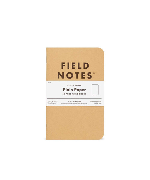 FIELD NOTES MEMO BOOKS – BLANK (Set of Three)