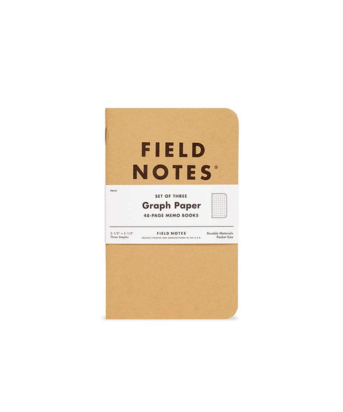 FIELD NOTES MEMO BOOKS – GRAPH (Set of Three)