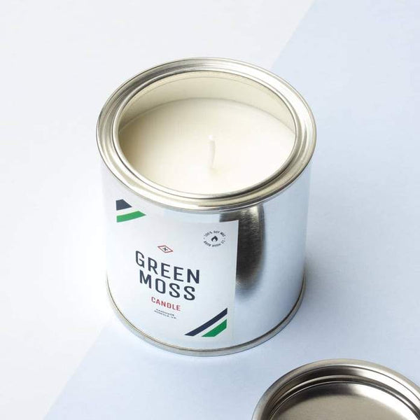 Paint Tin Candle  - Green Moss