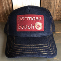 Hermosa Beach WELCOME SIGN Premium Denim Trucker Hat