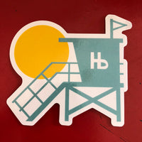 Hermosa Beach Sticker - LIFEGUARD TOWER