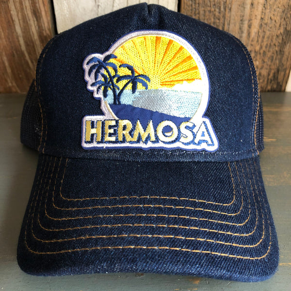Hermosa Beach FIESTA Premium Denim Trucker Hat