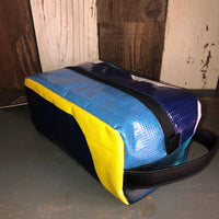Munich Toiletry Bag - Dopp Kit (Blue/Yellow/Turquoise/White)