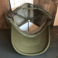 Hermosa Beach LIFEGUARD TOWER Trucker Hat - Olive