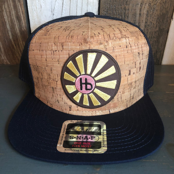 Hermosa Beach SUNBEAMS Premium Cork Trucker Hat - (Navy Blue/Cork)
