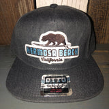 Hermosa Beach SUFING GRIZZLY BEAR 5-Panel Mid Profile Snapback Hat - Heather Black