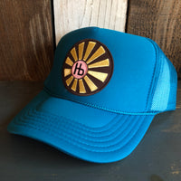 Hermosa Beach SUNBEAMS Trucker Hat - Turquoise