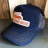 Hermosa Beach WOODIE Premium Denim Trucker Hat