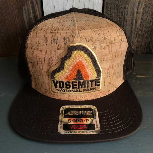 Hermosa Beach Threads x Parks Project - YOSEMITE CHENILLE PATCH Premium Cork Trucker Hat - (Brown/Cork)