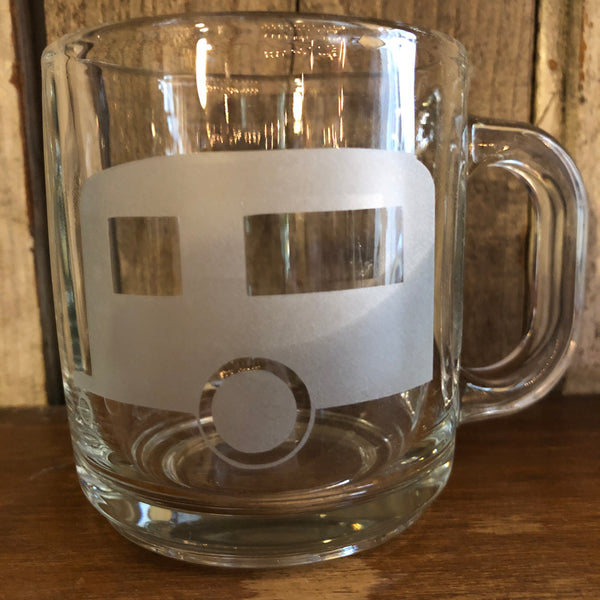 Camper Airstream Etched Glass Mug