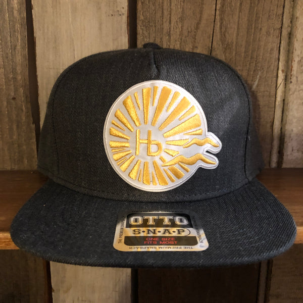 Hermosa Beach CLASSIC LOGO 5-Panel Mid Profile Snapback Hat - Heather Black