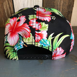 Hermosa Beach HERMOSA AVE Hawaiian Pattern 6 Panel Mid Profile Snapback Hat - A 'o ia