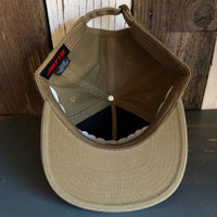 Hermosa Beach WOODIE 5 Panel Low Profile Style Dad Hat - Coyote Brown