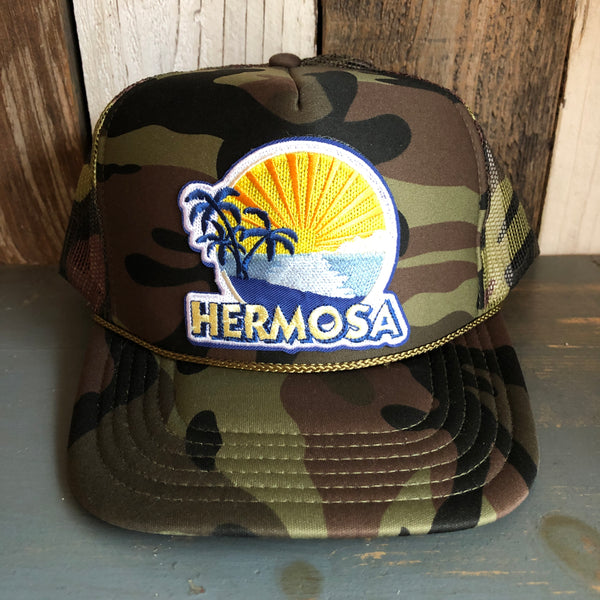 Hermosa Beach FIESTA Trucker Hat - Full Camouflage