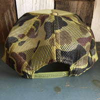 Hermosa Beach SUNBEAMS Trucker Hat - CAMOUFLAGE Green/Light Loden/Green