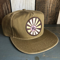 Hermosa Beach SUNBEAMS - 5 Panel Low Profile Style Dad Hat - Coyote Brown