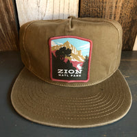 ZION NATIONAL PARK - 5 Panel Low Profile Style Dad Hat - Coyote Brown