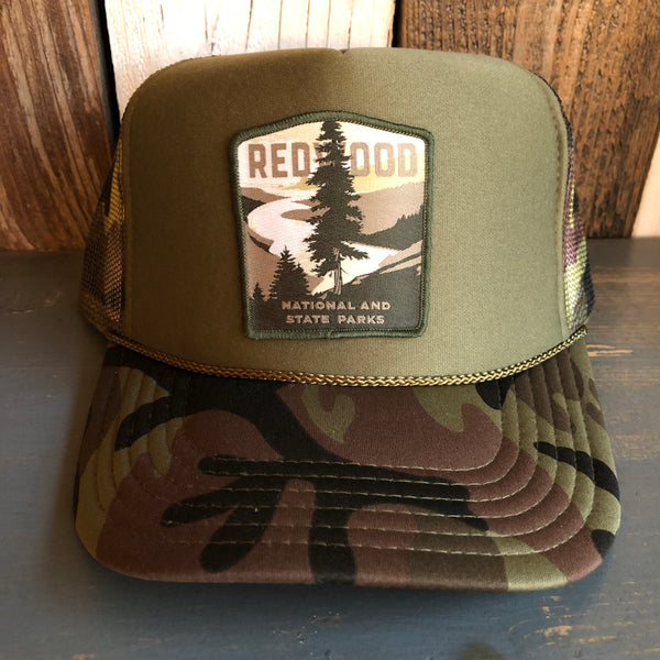 REDWOOD NATIONAL & STATE PARKS Trucker Hat - Camouflage/Olive