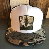 REDWOOD NATIONAL & STATE PARKS Trucker Hat - CAMOUFLAGE Khaki/Brown/Light Olive Green/White