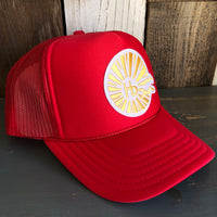 Hermosa Beach CLASSIC LOGO Trucker Hat - Red