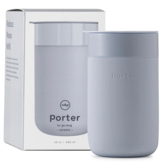 Porter Portable Mug (Ceramic, Slate - 16 oz)