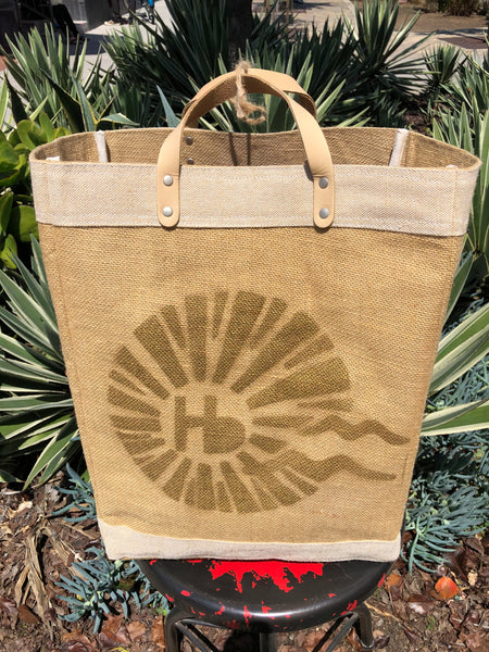 HERMOSA BEACH Market Bag - Local Artist Series featuring DRICA LOBO - HB Logo